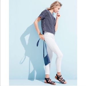 J. Crew white lookout High Rise Skinnies size 28
